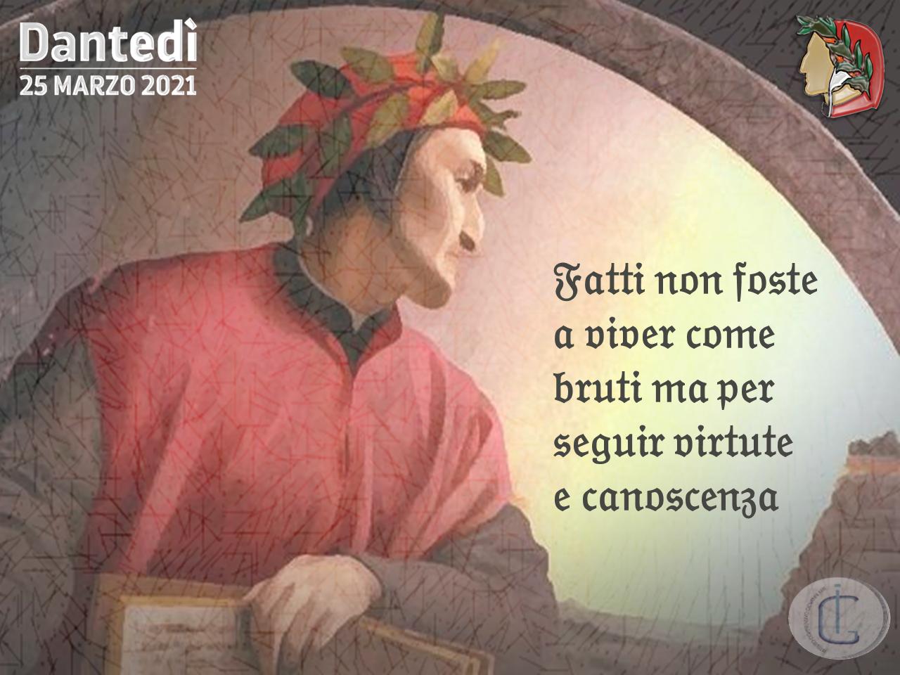 Dantedì - 25 Marzo 2021 - VII centenario della morte di Dante Alighieri