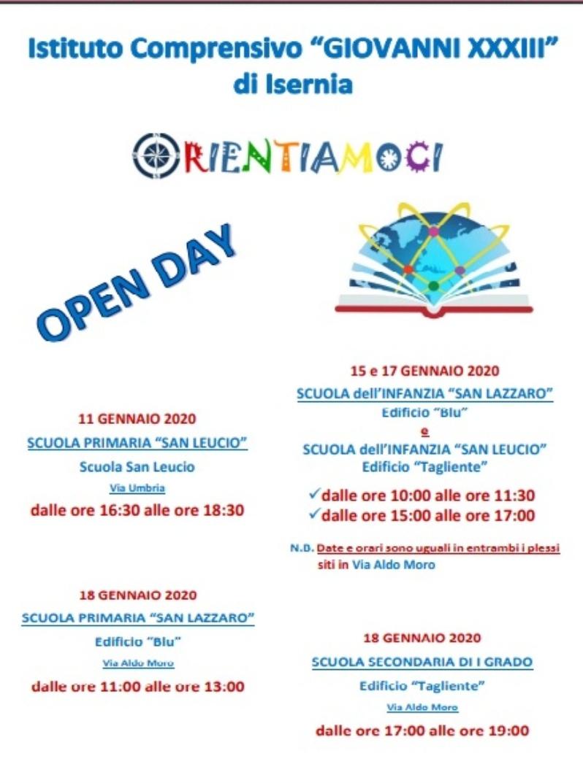 OPEN DAY 2020 - ORIENTIAMOCI