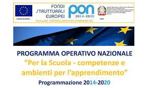 """FSE – PON """"Per la scuola – Competenze e ambienti per l'apprendimento"""" 2014-2020"""